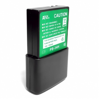 Batería para KENWOOD TH-22/42AT, TH-79, TK-208/308, 9.6 V., 1100 mAh, Ni-Mh.