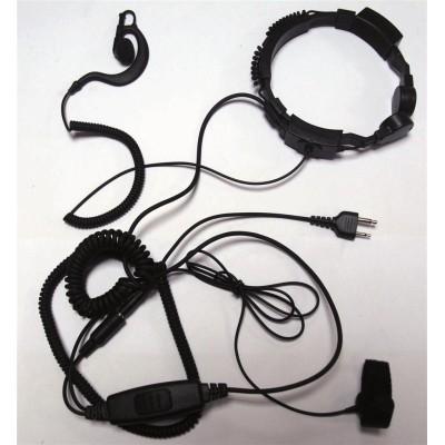 Laringófono profesional compatible ICOM, YAESU, HORA, STANDARD.