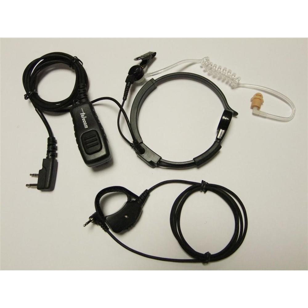 Laringófono profesional con tubo acústico para ICOM.