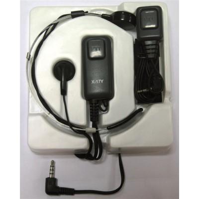 Micro-auricular activado por laringe para YAESU.