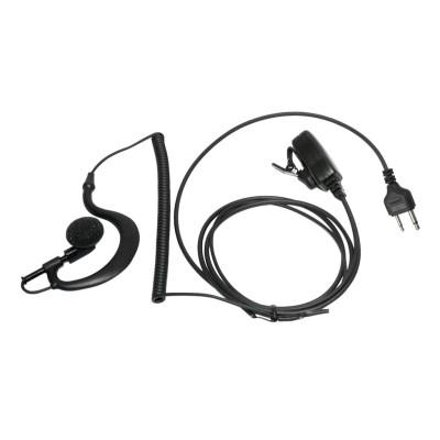 Micro-auricular con PTT de solapa para YAESU, ICOM, ALINCO, COBRA, STANDARD, etc.
