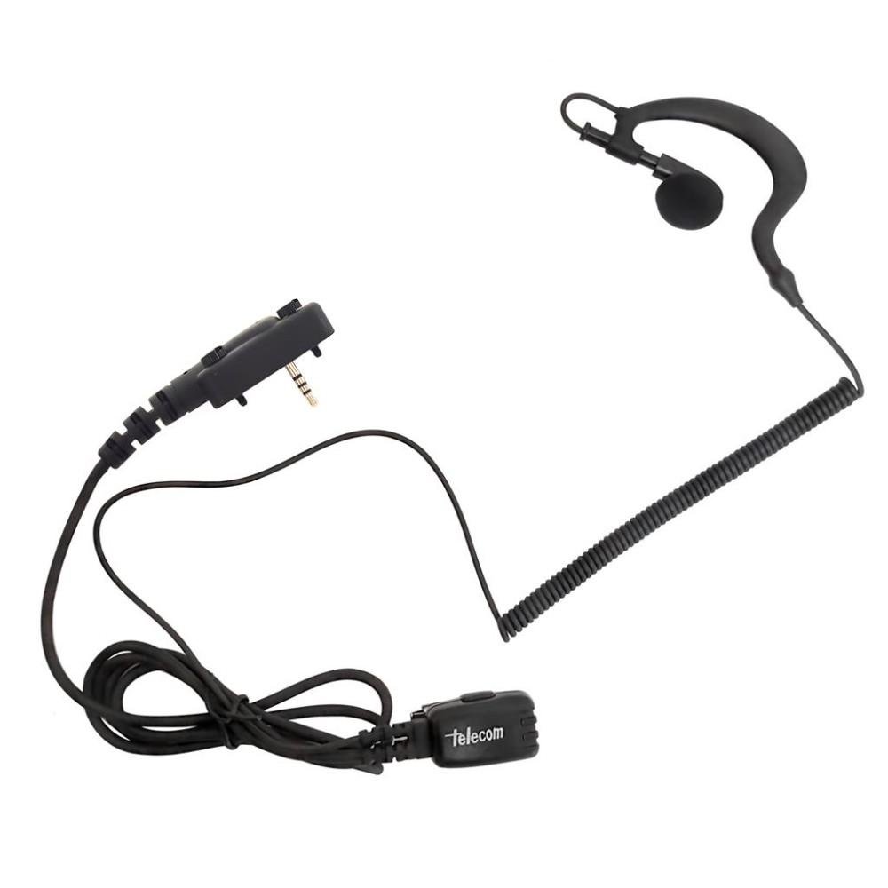 Micro-auricular ergonómico giratorio con micro tipo solapa, para E-TECH