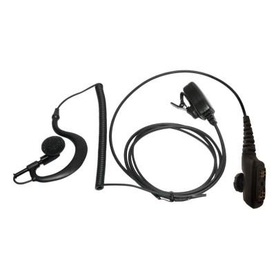 Micro-auricular con PTT de solapa para HYT