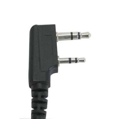 Micro-auricular con PTT de solapa para KENWOOD, TEAM y HYT.