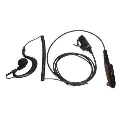 Micro-auricular con PTT de solapa para MOTOROLA & HYT