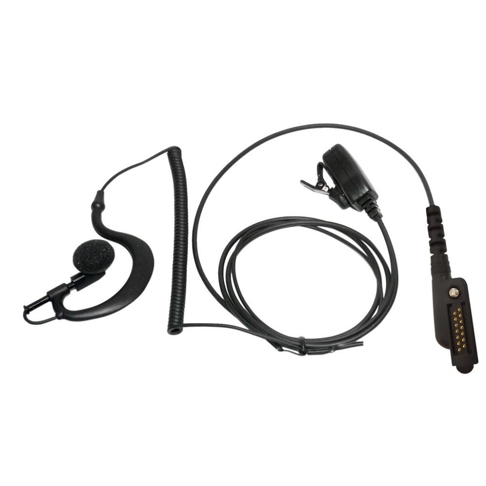 Micro-auricular con PTT de solapa para ICOM