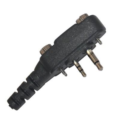 Micro-auricular ergonómico giratorio con micro tipo solapa, para ICOM.