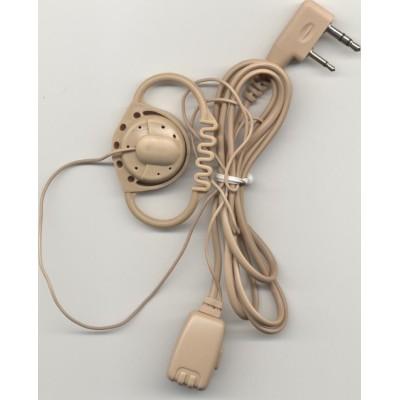 Micro-auricular con micrófono de solapa y PTT, para Motorola.