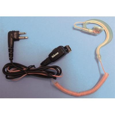 Micro-auricular ergonómico giratorio con micro tipo solapa, para MOTOROLA y TEAM.