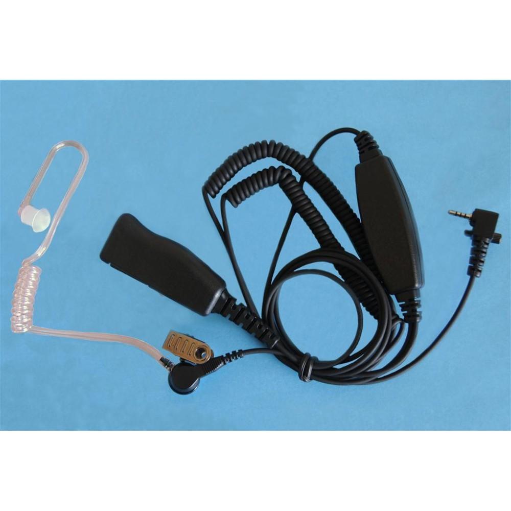 Micro-auricular + PTT profesional, con tubo acústico, especial para Sepura SRH-3800.