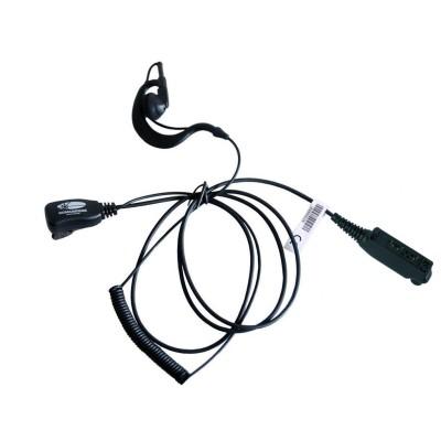 Micro-auricular con PTT de solapa para SEPURA / SIMOCO.