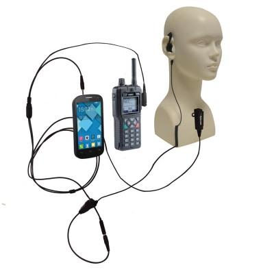 Microauricular mixto para SEPURA STP8000 / SMARTPHONE