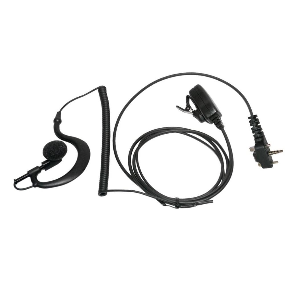 Micro-auricular con PTT de solapa para equipos Yaesu