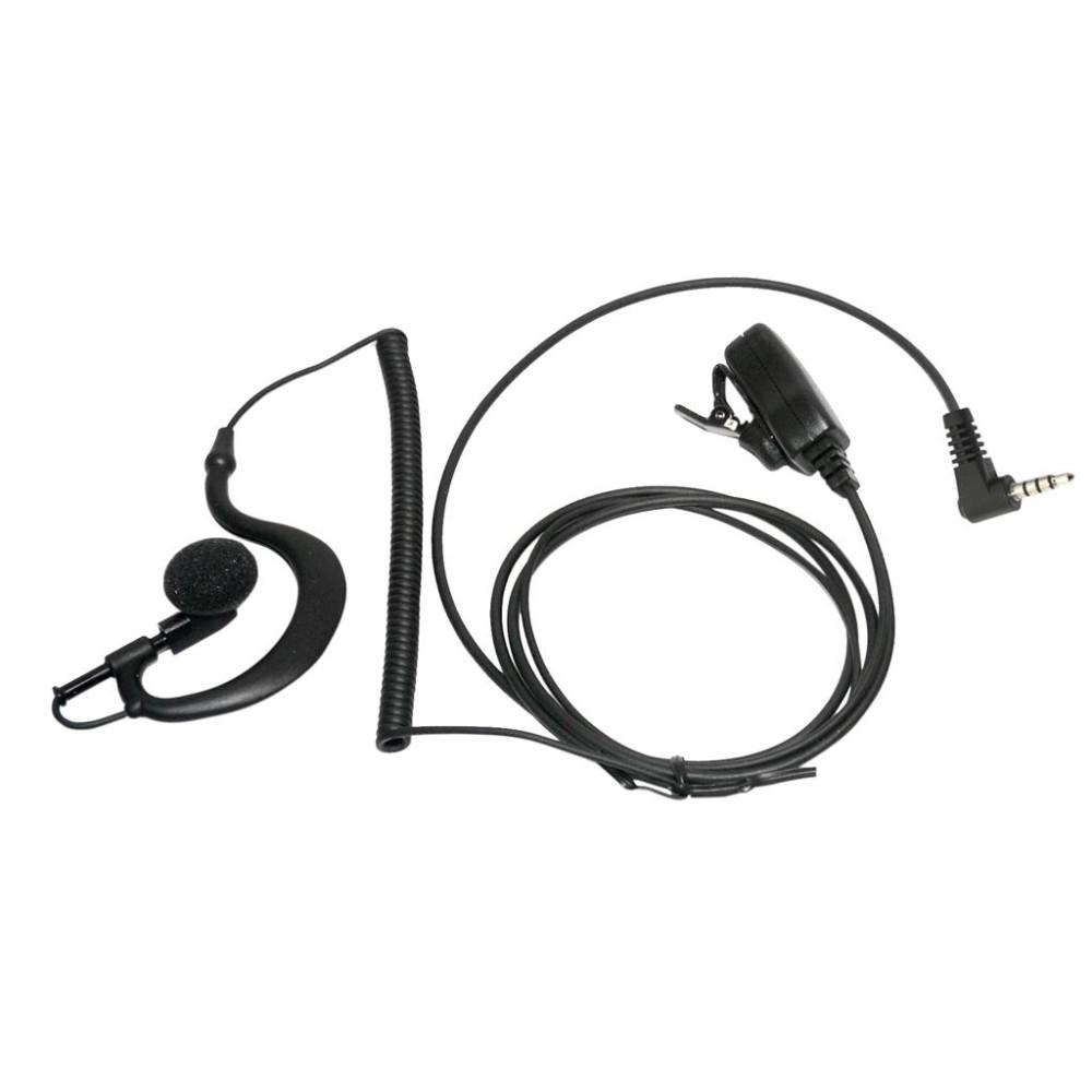 Micro-auricular PTT solapa para YAESU.