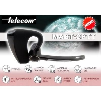 Micro-auricular Bluetooth TELECOM con 2 PTT