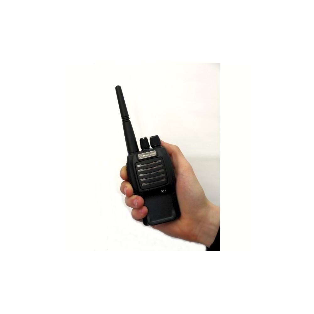 Midland MA 28-L Kit de micr/ófono de solapa port/átil con PTT para Walkie Talkie