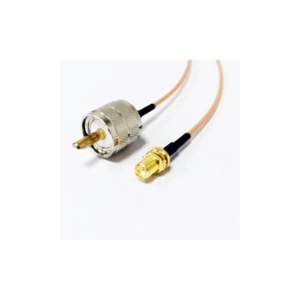 Latiguillo SMA-H a UHF-M (15 cm.)
