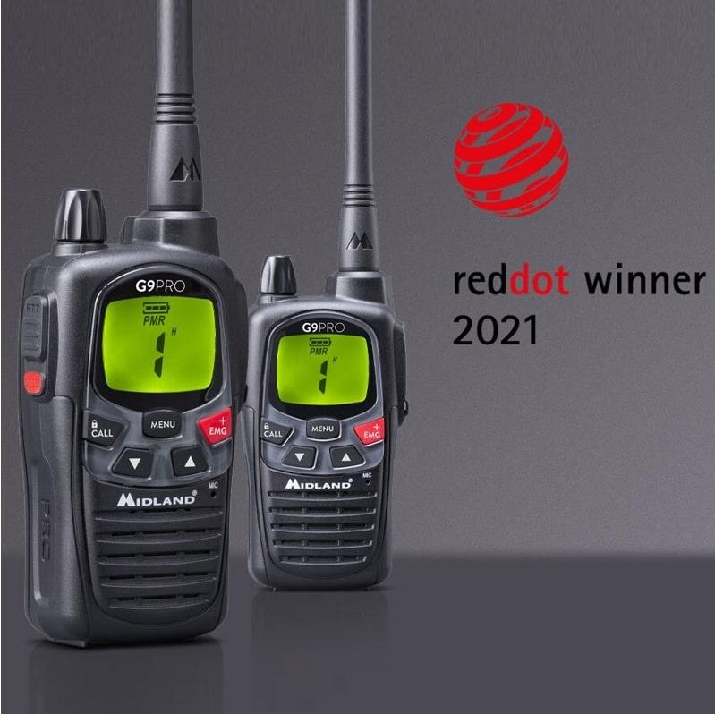 Midland G9 PRO, ganador del Red Dot Award 2021 en la categoría de Diseño de Producto.